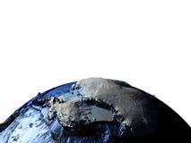 Antractic sur terre avec les montagnes exagérées Photographie stock