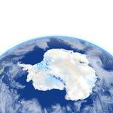 Antractic sur terre de planète Photographie stock libre de droits