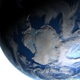 Antractic sur terre de planète Illustration Stock
