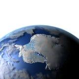 Antractic sur terre de planète Illustration Libre de Droits