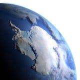 Antractic sur terre de planète Photo stock