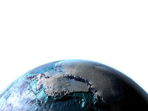 Antractic sur terre de planète Images libres de droits
