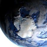 Antractic sur terre - fond océanique évident Photographie stock libre de droits