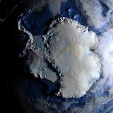 Antractic sur terre - fond océanique évident Photographie stock