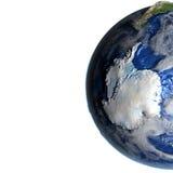 Antractic sur terre - fond océanique évident Image stock