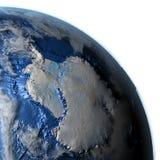 Antractic sur terre - fond océanique évident Image libre de droits