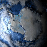Antractic sur terre - fond océanique évident Images libres de droits
