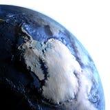 Antractic sur terre - fond océanique évident Photo libre de droits