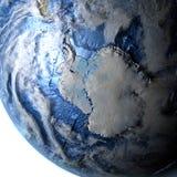 Antractic sur terre - fond océanique évident Photos libres de droits