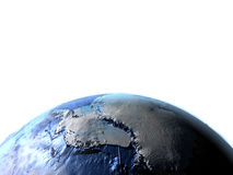 Antractic sur terre - fond océanique évident Photos stock