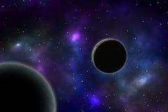 Antreiben der Planeten auf einem Kreis Lizenzfreies Stockfoto