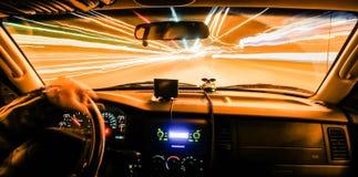 Antreiben mit Lichtgeschwindigkeit Stockbild