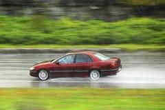 Antreiben am Regen Stockfotos