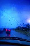 Antreiben in Regen Stockfotografie