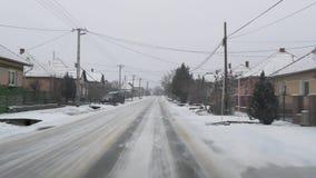 Antreiben in Schnee