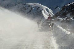 Antreiben in Schnee-Sturm Lizenzfreie Stockfotos