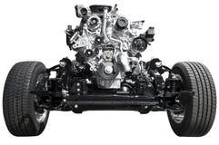 Antriebsachse und Motor Stockbilder