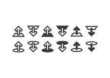 Antriebskraft-/Download-Ikonen stock abbildung