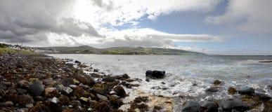 antrim ιρλανδικό seascape χωρών ballygalley Στοκ Εικόνα