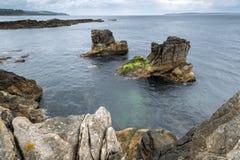 Antrim τοπίο ακτών στη βόρεια Ιρλανδία Στοκ Φωτογραφία