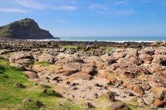 Antrim coast. Northern coast of County Antrim, Northern Ireland stock images