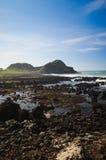 Antrim coast. Northern coast of County Antrim, Northern Ireland stock photo