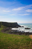 Antrim coast. Northern coast of County Antrim, Northern Ireland stock photography