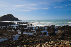 Antrim coast. Northern coast of County Antrim, Northern Ireland royalty free stock image