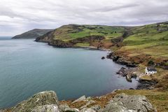 Antrim Coast. A view of the Antrim coast in Northern Ireland taken from Torr Head royalty free stock photography