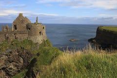 Dunluce Castle. Antrim Ireland, - July 21, 2016: Dunluce Castle, Antrim coast, Co. Antrim, Ireland Royalty Free Stock Photos