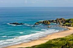 antrim kust nordliga ireland Fotografering för Bildbyråer