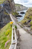The Carrick-a-Rede Rope Bridge royalty free stock photos