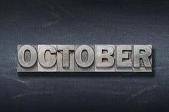 Antro da palavra de outubro foto de stock