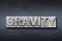 Antro da palavra da gravidade foto de stock