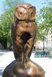 Antro Haag Monumento da coruja Fotos de Stock Royalty Free