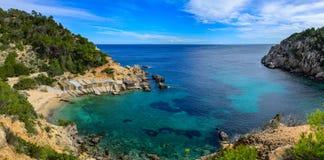 Antro Serra de Cala, Ibiza Imagem de Stock