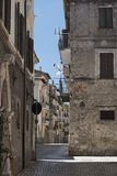 Antrodoco Rieti, Λάτσιο, Ιταλία, παλαιά οδός Στοκ φωτογραφίες με δικαίωμα ελεύθερης χρήσης