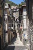 Antrodoco Rieti, Λάτσιο, Ιταλία, παλαιά οδός Στοκ φωτογραφία με δικαίωμα ελεύθερης χρήσης