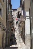 Antrodoco Rieti, Λάτσιο, Ιταλία, παλαιά οδός Στοκ Φωτογραφία