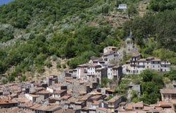 Antrodoco Rieti, Λάτσιο, Ιταλία, πανοραμική άποψη Στοκ εικόνες με δικαίωμα ελεύθερης χρήσης