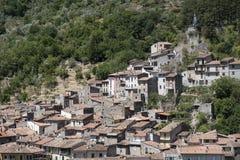 Antrodoco Rieti, Λάτσιο, Ιταλία, πανοραμική άποψη Στοκ Εικόνες