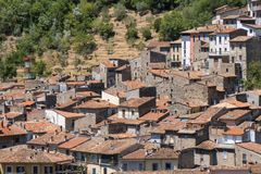 Antrodoco Rieti, Λάτσιο, Ιταλία, πανοραμική άποψη Στοκ Φωτογραφία