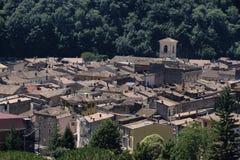 Antrodoco Rieti, Λάτσιο, Ιταλία, πανοραμική άποψη Στοκ εικόνα με δικαίωμα ελεύθερης χρήσης