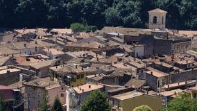 Antrodoco Rieti, Λάτσιο, Ιταλία, πανοραμική άποψη Στοκ Φωτογραφίες