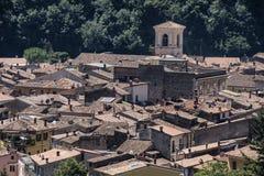 Antrodoco Rieti, Λάτσιο, Ιταλία, πανοραμική άποψη Στοκ φωτογραφία με δικαίωμα ελεύθερης χρήσης