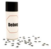 Ants around insect repellent Royalty Free Stock Images