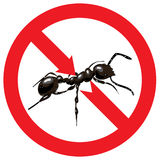 Ants banned. Sign prohibited. Illustration Stock Photography