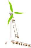 Ants build windmills Royalty Free Stock Photos