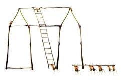 Ants building Stock Photo