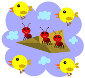Ants can fly Stock Photo